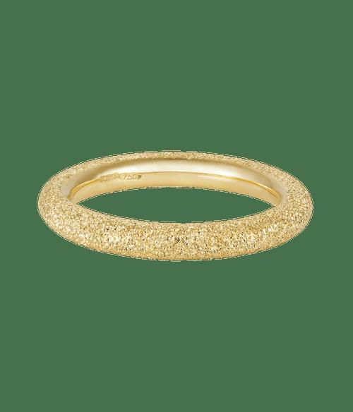 18KT Florentine Finish Thick Ring