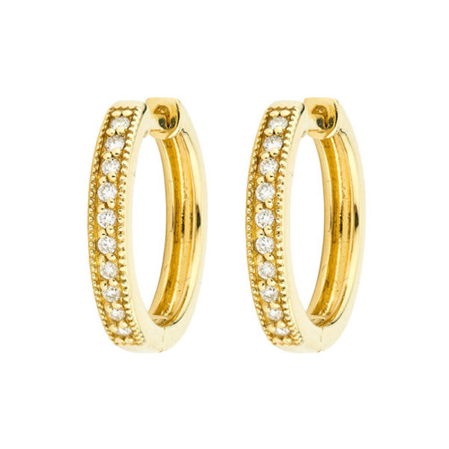 Camelia Diamond Hoop Earrings