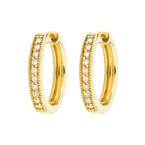 Camelia Diamond Hoop Earrings