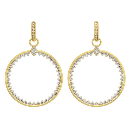 Medium Open Circle Diamond Earring Charms