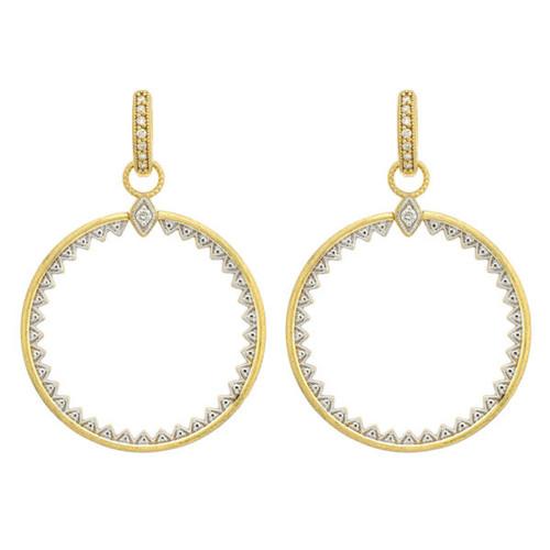 Medium Open Circle Diamond Earring Charms