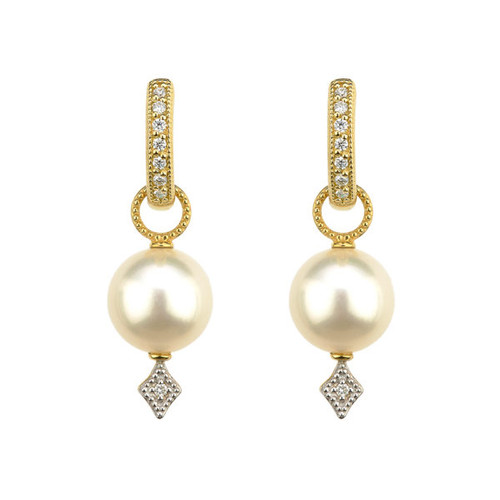 Yellow Gold 9-10mm Pearl Earring Charms