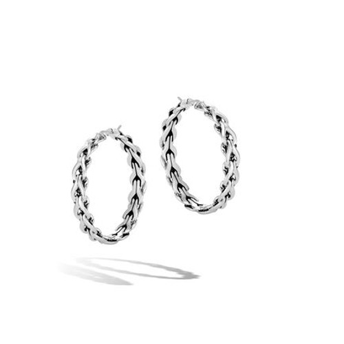 Asli Sterling Silver Medium Hoops