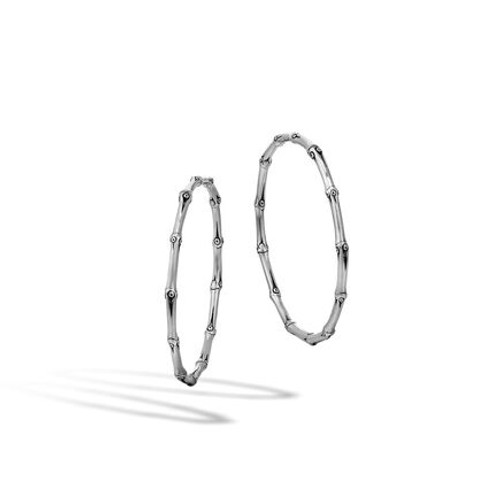 Bamboo Large Hoop Earrings
