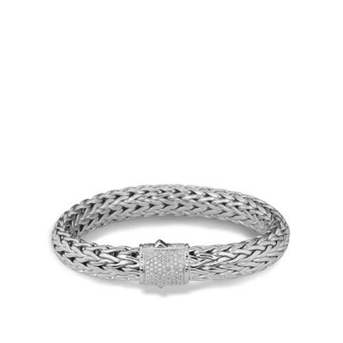 Diamond Clasp Classic Chain Bracelet