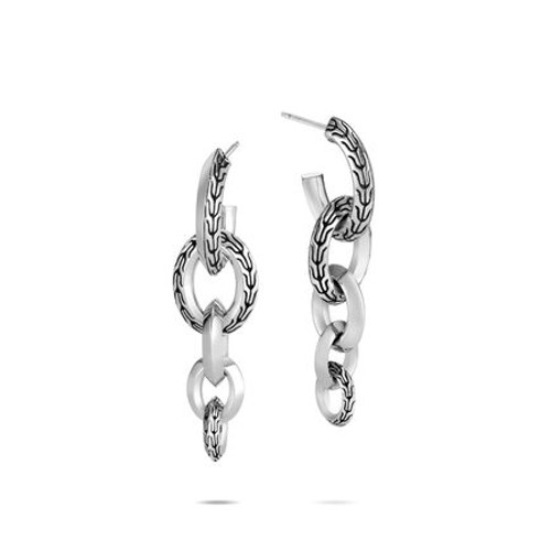 Classic Chain Knife Edge Drop Earrings