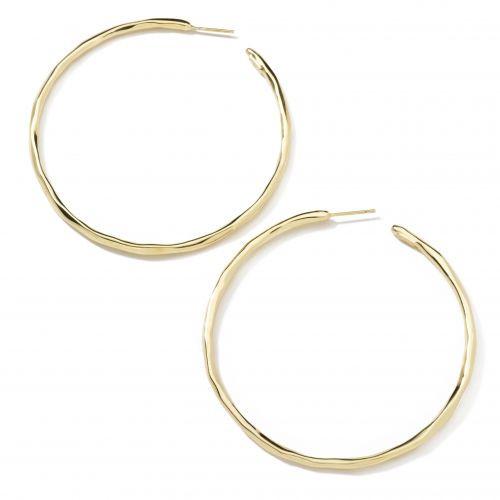 Extra Large Faceted Hoop Earrings