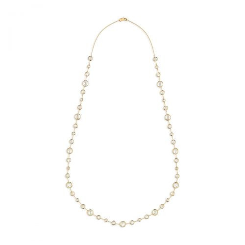Lollipop Long Mother of Pearl Necklace