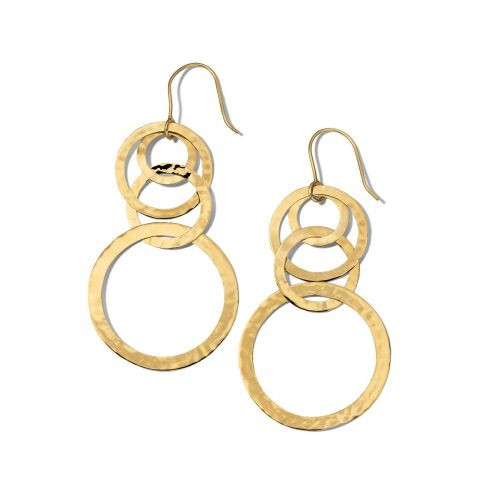 Crinkle Circle Drop Earrings