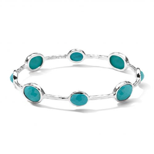 Turquoise Stone Sterling Silver Bangle