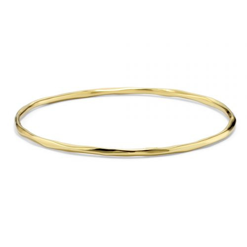 18KT Thin Faceted Bangle Bracelet
