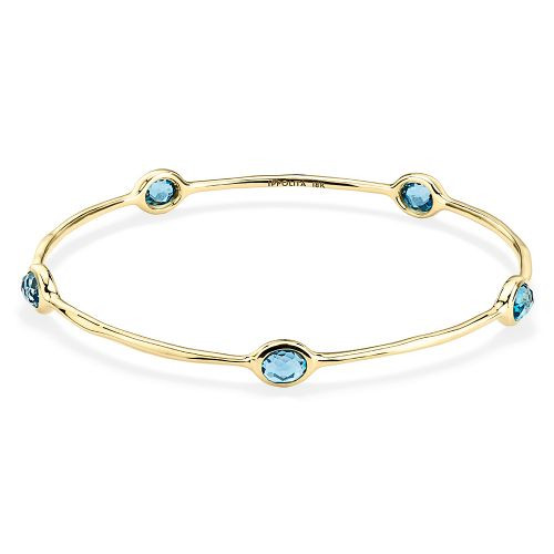 Lollipop 5 Stone Blue Topaz Bangle