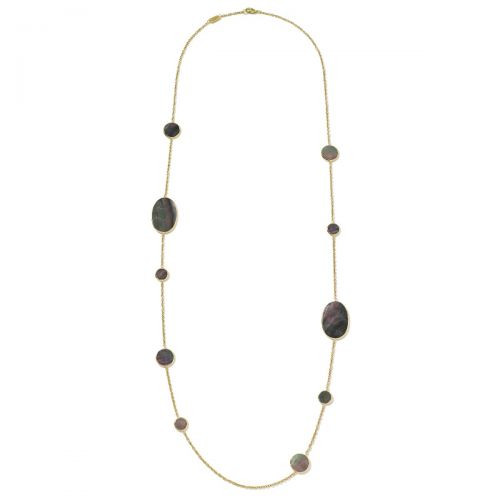 Black Shell Station Necklace