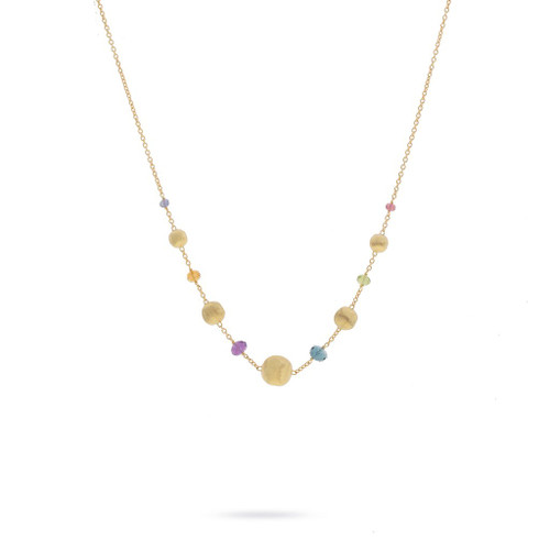 Africa Multi-Colored Gemstone Necklace