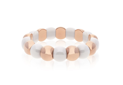 Rose Gold & White Small Aura Bracelet