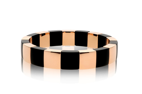 Square Rose Gold & Black Aura Bracelet