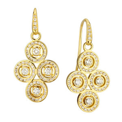 Yellow Gold Mogul Earrings