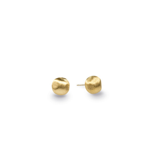 Africa Yellow Gold Stud Earrings