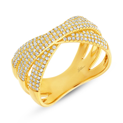 Diamond Criss Cross Bridge Ring