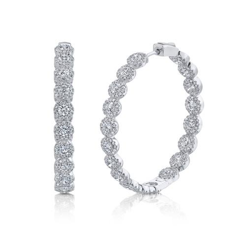 14KT Diamond Inside-Out Hoop Earrings