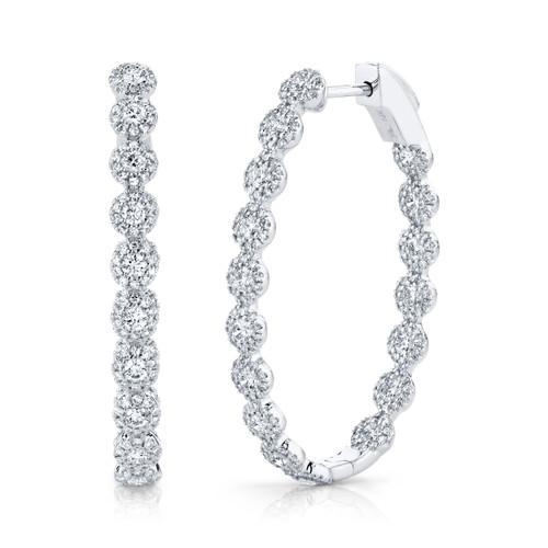 2.05ct White Gold Diamond Hoops
