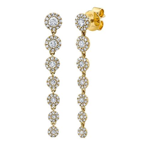 7 Drop Diamond Earrings