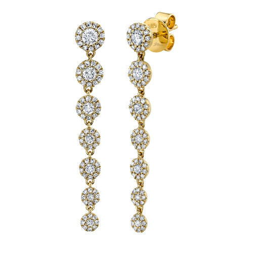7 Drop Diamond Earrings