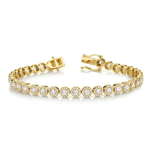 Yellow Gold Round Diamond Bracelet