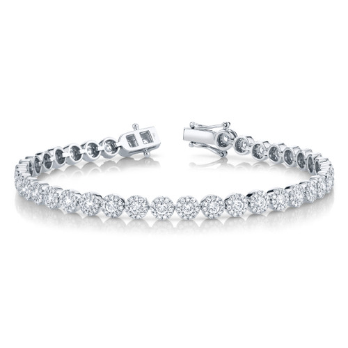 White Gold Round Diamond Bracelet