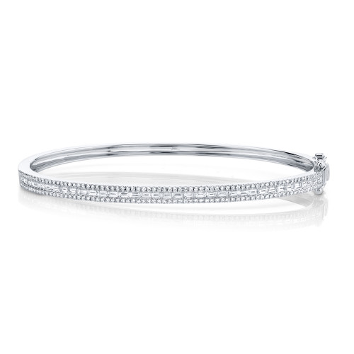 1.02CT Diamond Baguette Bangle