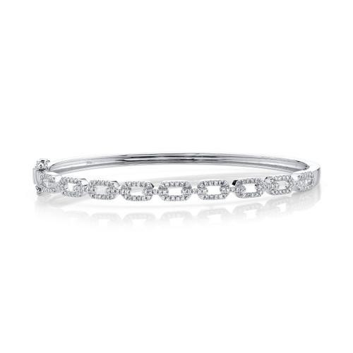 14KT Diamond Link Bangle