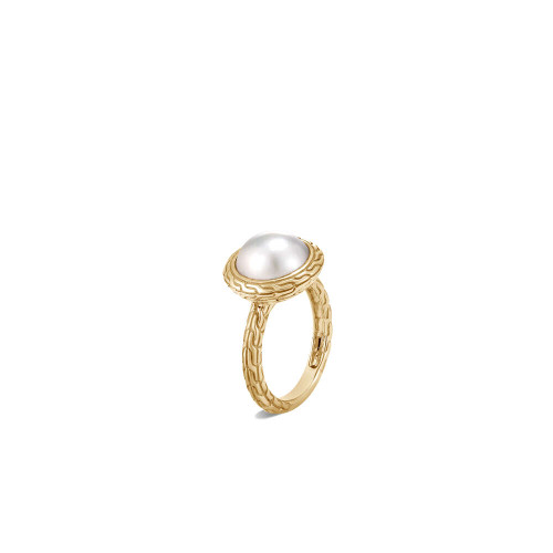 Classic Chain Ring with Mabe Freshwater Pearl