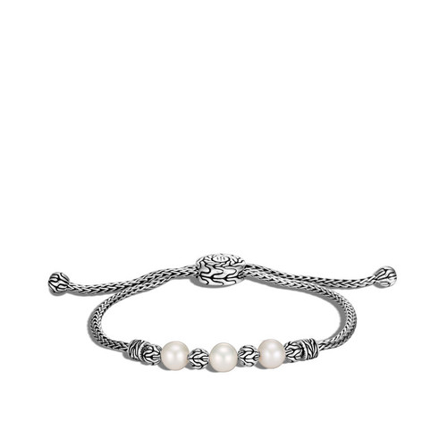 Classic Chain Pull Through Fresh Water Pearl Bracelet