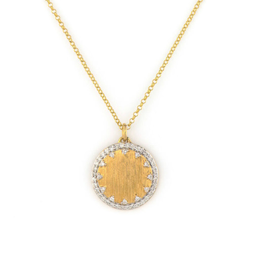 Provence Small Disc Engravable Pendant