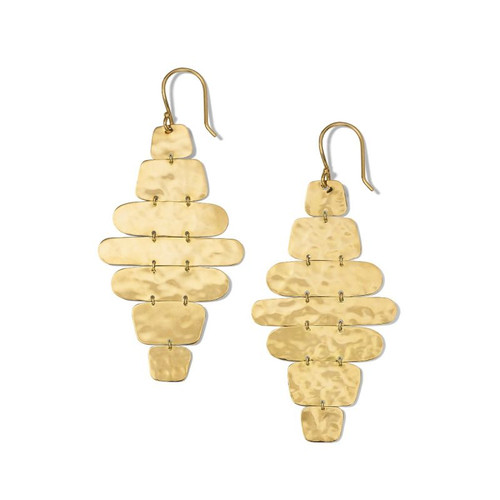 Crinkle Hammered Cascade Earrings