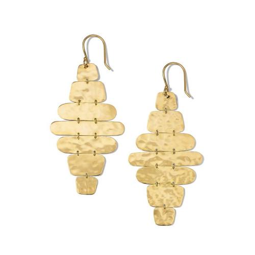Crinkle Hammered Cascade Earrings