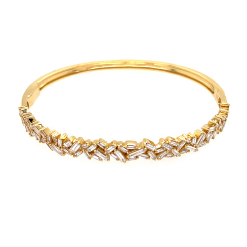 Baguette Cut Diamond Bangle