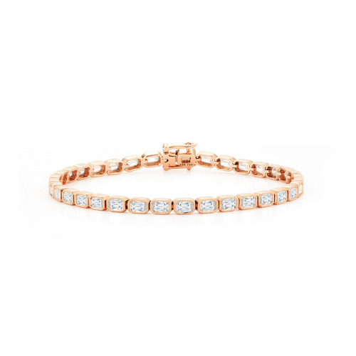 Diamond Milgrain Tennis Bracelet