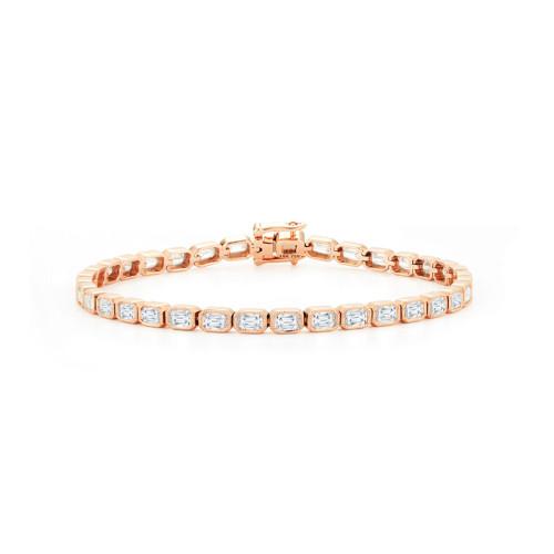 Diamond Milgrain Tennis Bracelet