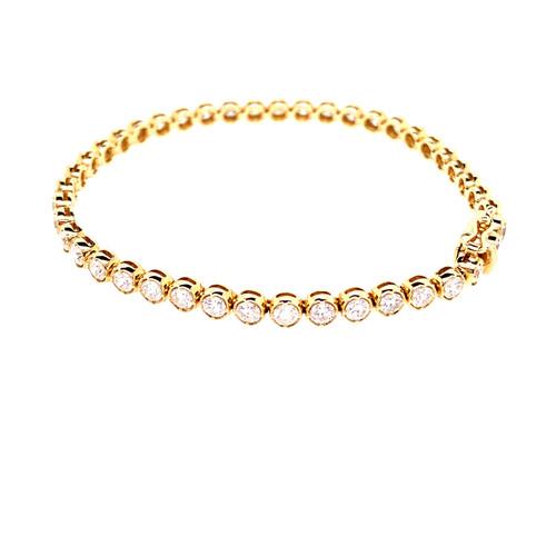 Bezel Prong Diamond Tennis Bracelet