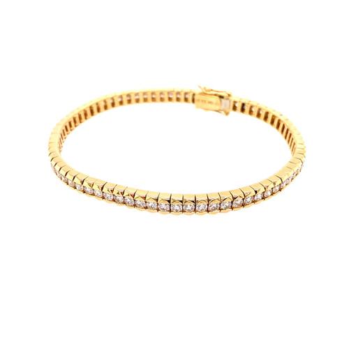 Half Bezel Diamond Tennis Bracelet