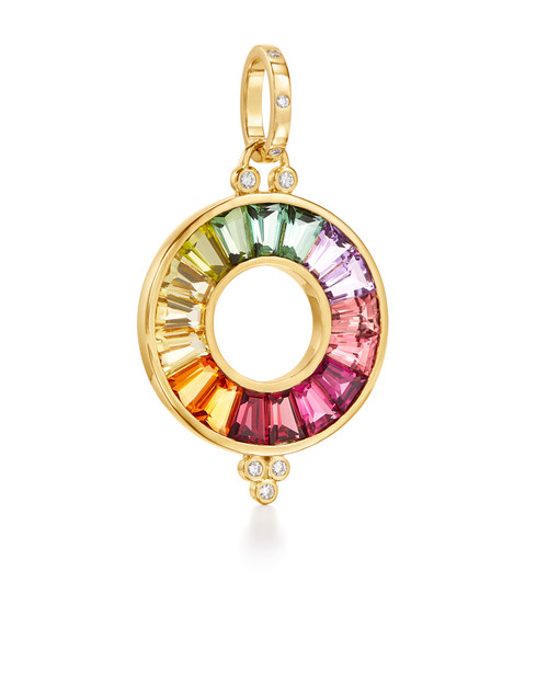 18KT Color Wheel Pendant