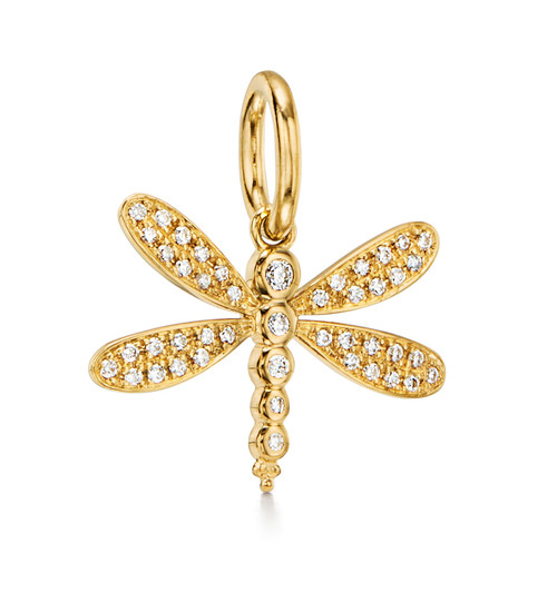 18KT Dragonfly Pendant