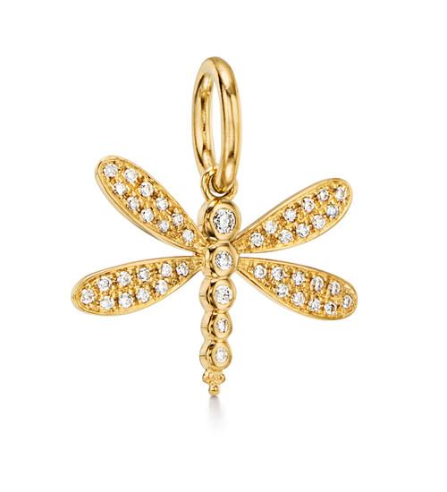 18KT Dragonfly Pendant