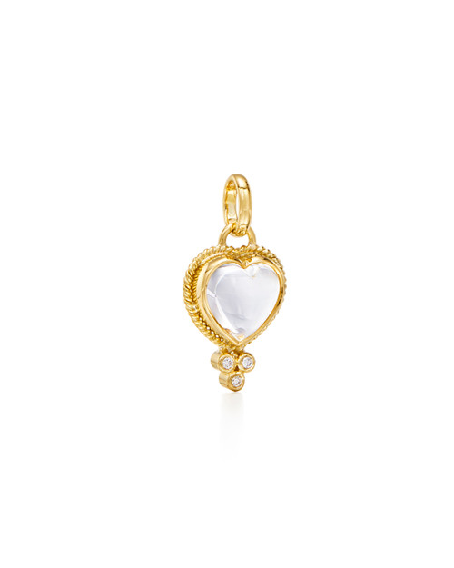 18KT Braided Heart Pendant