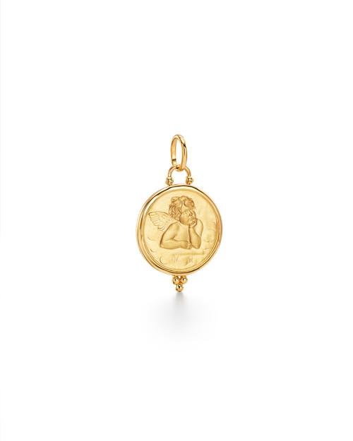 21mm 18KT Yellow Gold Angel Pendant