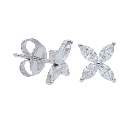 Marquise Cluster Stud Earrings
