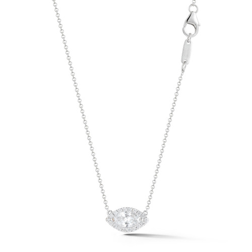 Marquise Cut Diamond Pendant Necklace
