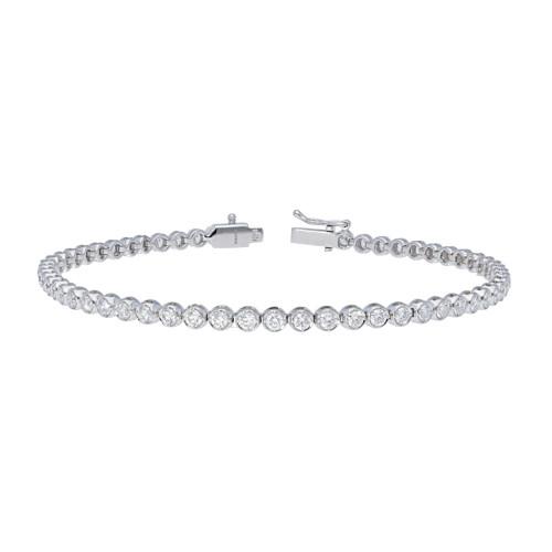 2.17ct White Gold Diamond Tennis Bracelet