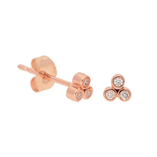 Rose Gold Cluster Stud Earrings